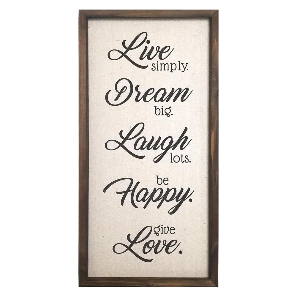 Live Dream Laugh Happy Love Wood and Metal Wall Decor - 321213. Picture 1