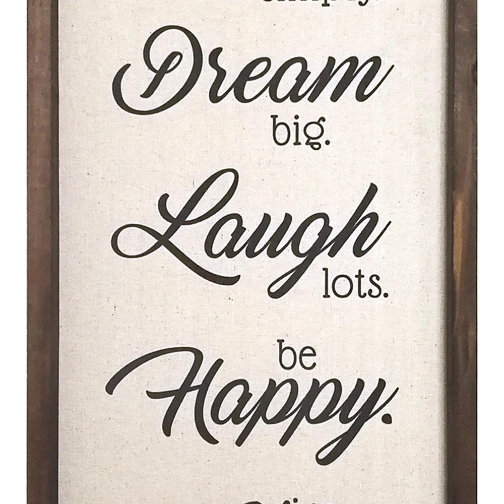 Live Dream Laugh Happy Love Wood and Metal Wall Decor - 321213. Picture 3
