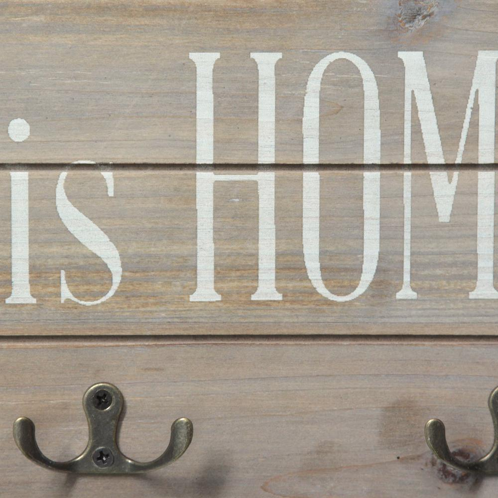 Farmhouse Rustic Bless This Home Wall Hanging with Hooks - 321252. Picture 3