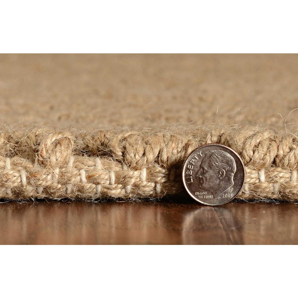 """96"""" X 132"""" Natural Jute Rug - 375169. Picture 4"""