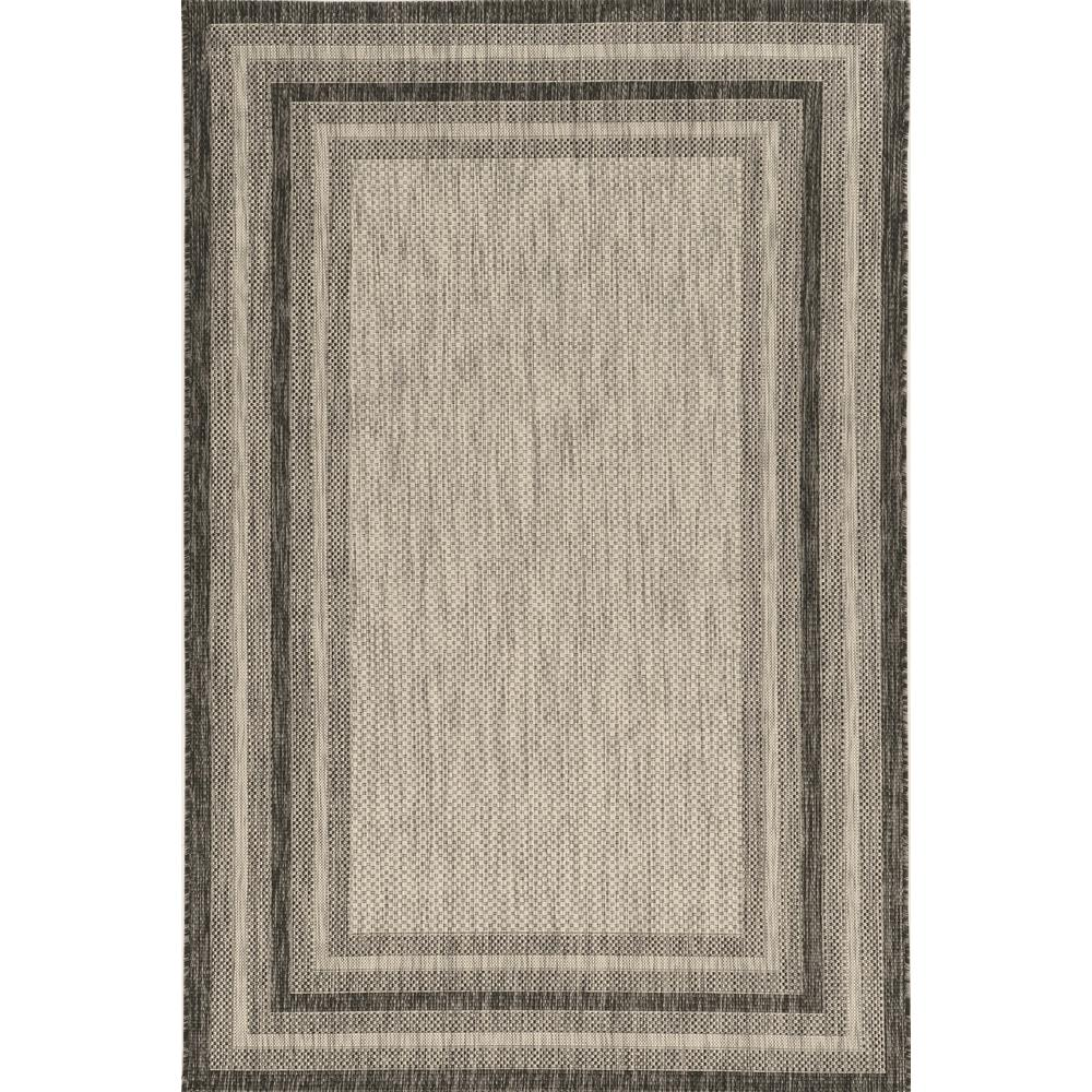 3' x 5' Grey Polypropylene Area Rug - 375209. Picture 1
