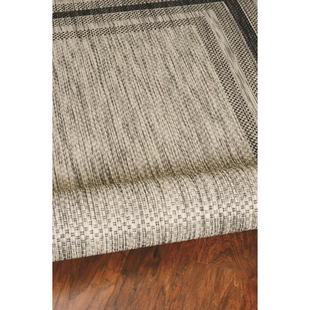 3' x 5' Grey Polypropylene Area Rug - 375209. Picture 4