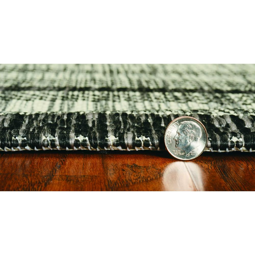 8'x11' Grey Machine Woven UV Treated Bordered Indoor Outdoor Area Rug - 375211. Picture 3