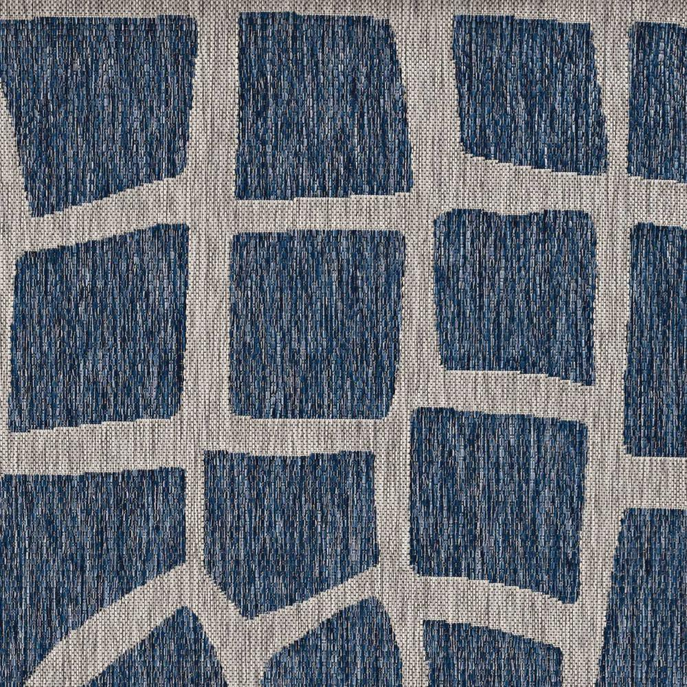 5' x 8' Blue or Grey Abstract Panels Area Rug - 375229. Picture 1