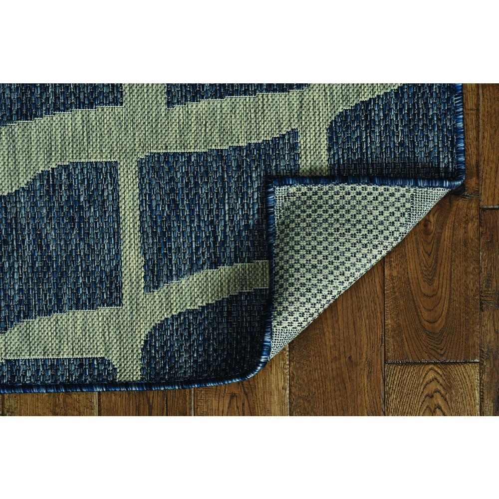 5' x 8' Blue or Grey Abstract Panels Area Rug - 375229. Picture 3