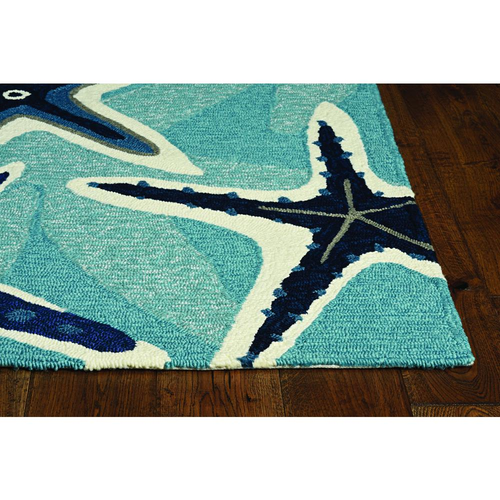 8'x11' Grey Machine Woven UV Treated Geometric Indoor Outdoor Area Rug - 375260. Picture 2