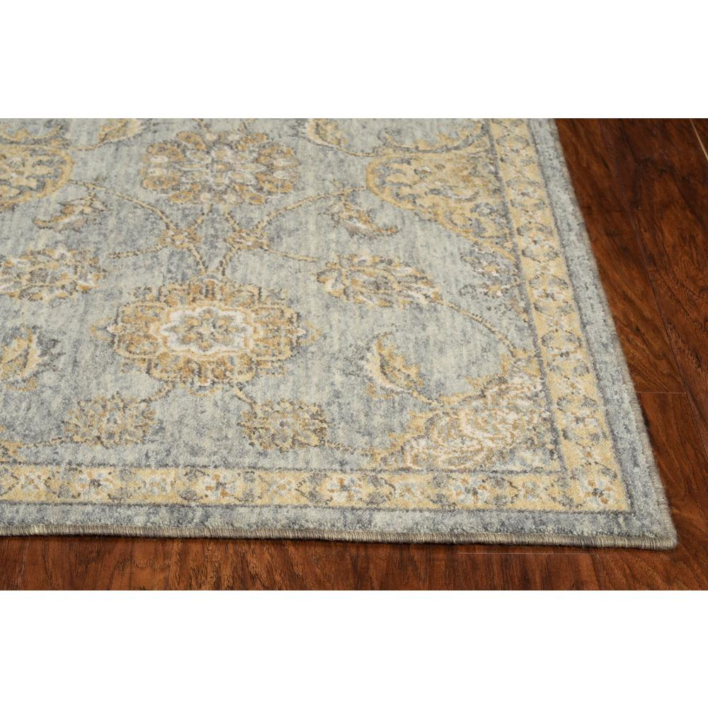 8' Sage Green Machine Woven Vintage Traditional Indoor Runner Rug - 375270. Picture 3