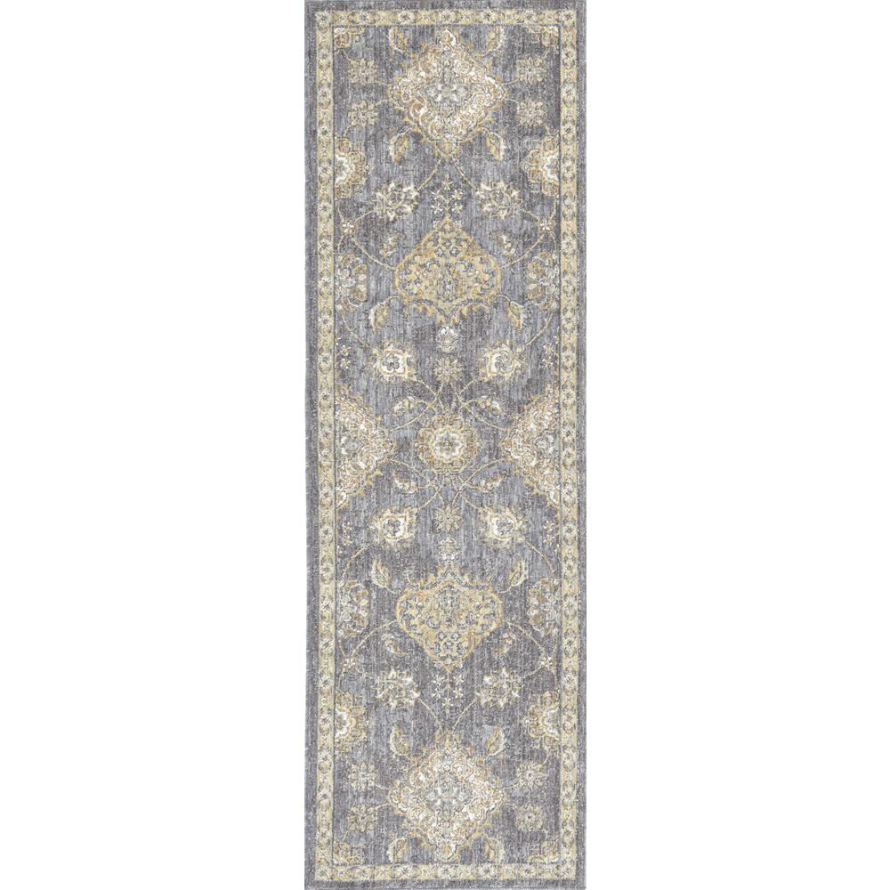 5'x8' Sage Green Machine Woven Traditional Indoor Area Rug - 375272. Picture 1