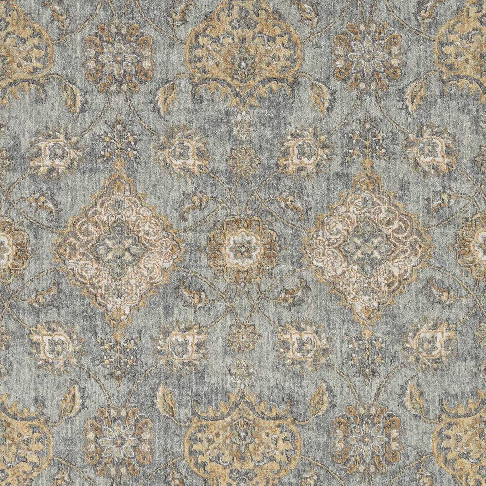 5'x8' Sage Green Machine Woven Traditional Indoor Area Rug - 375272. Picture 2