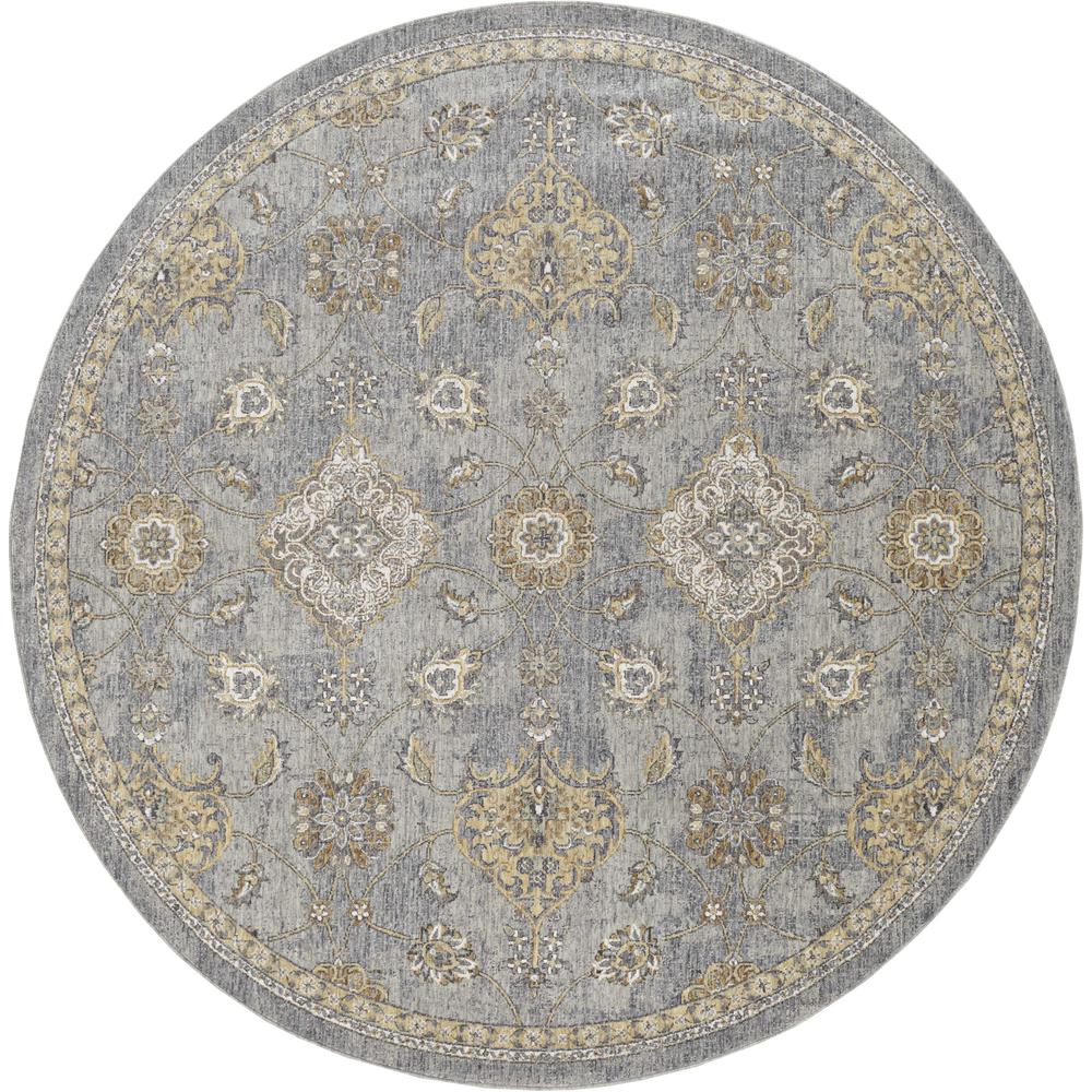 5'x8' Sage Green Machine Woven Traditional Indoor Area Rug - 375272. Picture 3