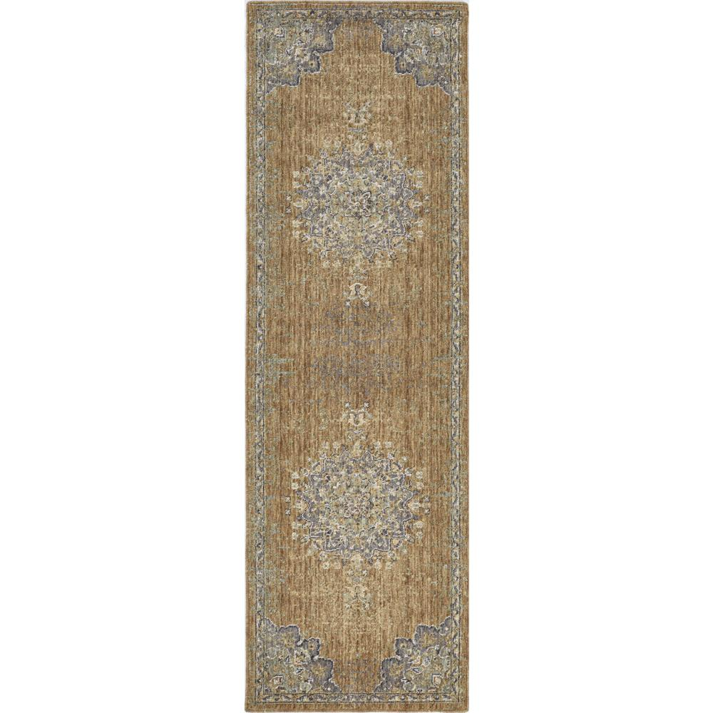 8'x11' Coffee Brown Machine Woven Floral Medallion Indoor Area Rug - 375294. Picture 4