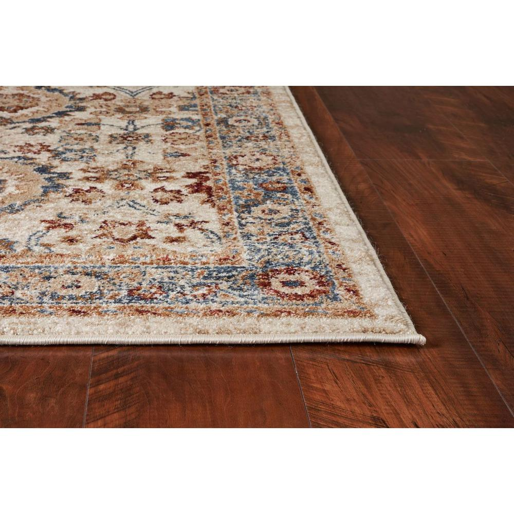 5'x8' Ivory Machine Woven Bordered Floral Indoor Area Rug - 375324. Picture 3