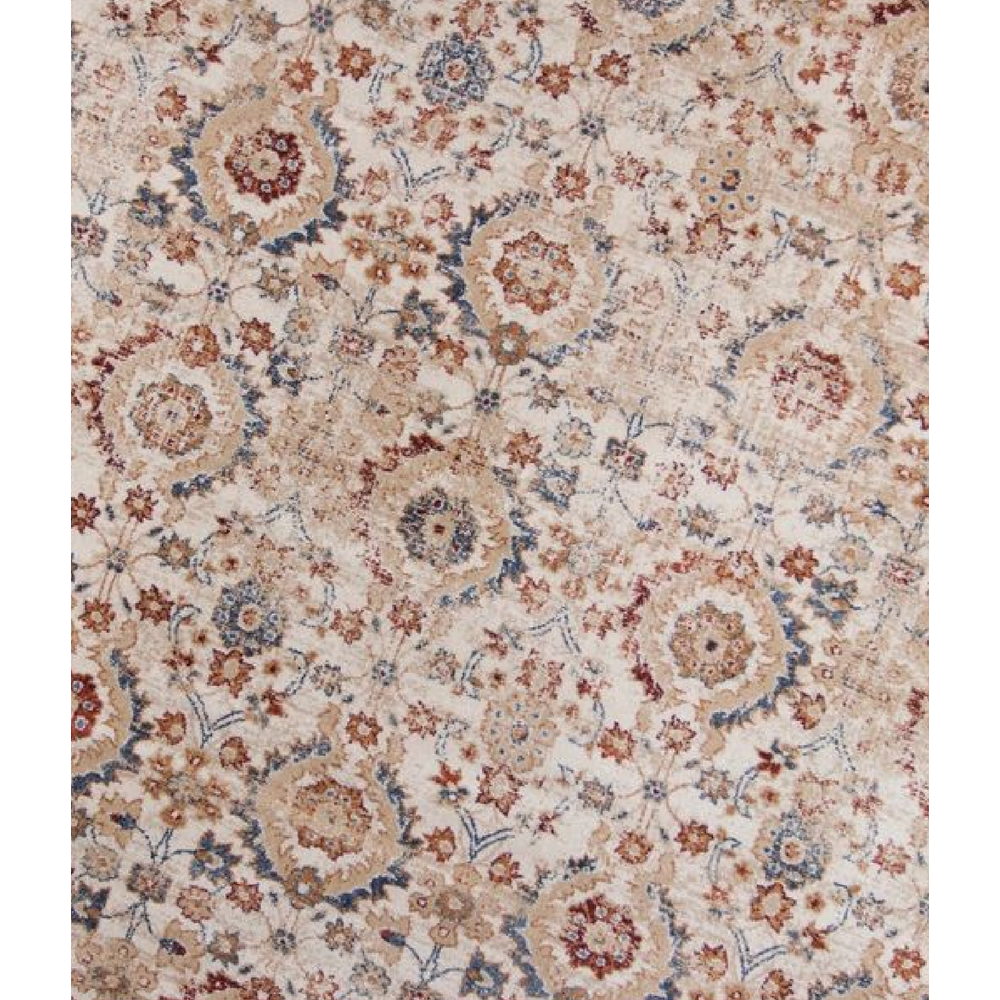 5'x8' Ivory Machine Woven Bordered Floral Indoor Area Rug - 375324. Picture 4