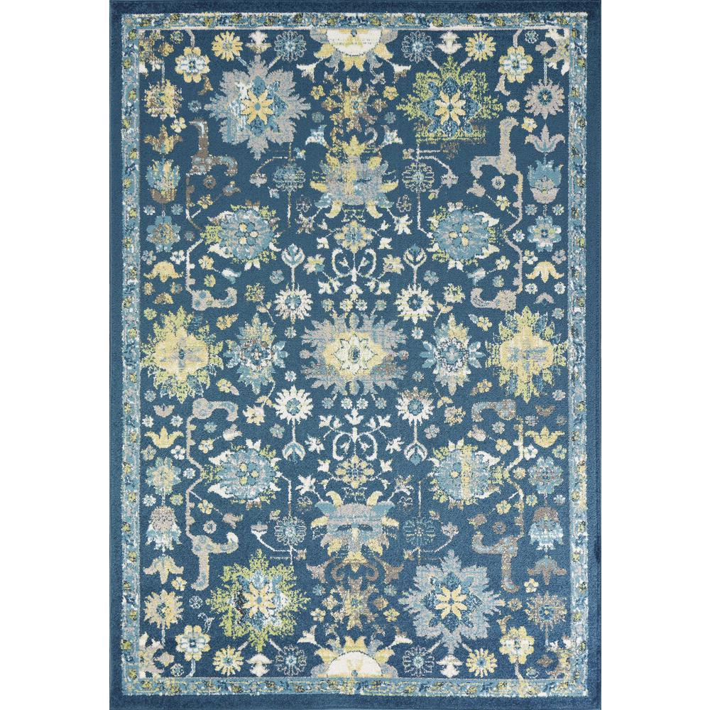 7'x11' Teal Machine Woven Traditional Indoor Area Rug - 375369. Picture 3