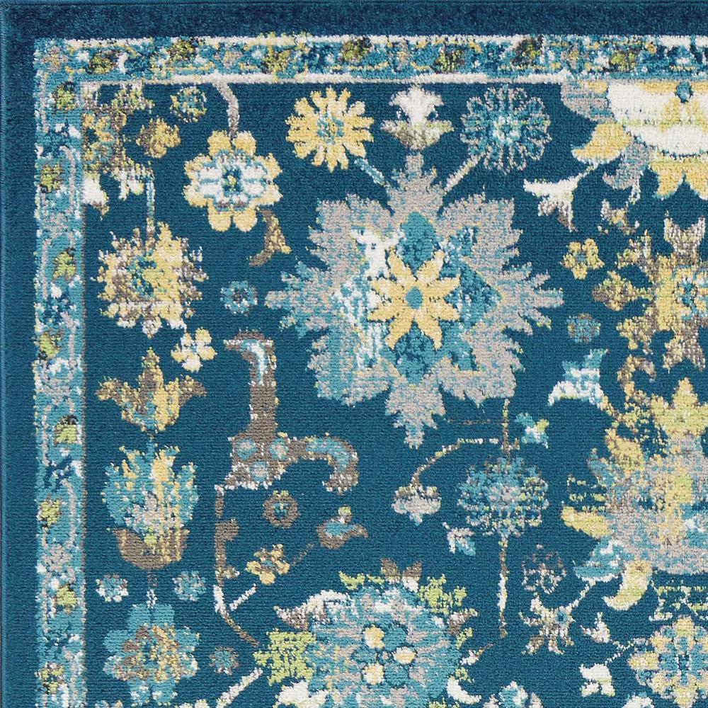 7'x11' Teal Machine Woven Traditional Indoor Area Rug - 375369. Picture 4