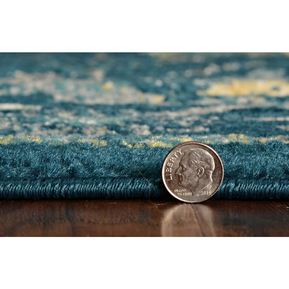 7'x11' Teal Machine Woven Traditional Indoor Area Rug - 375369. Picture 2