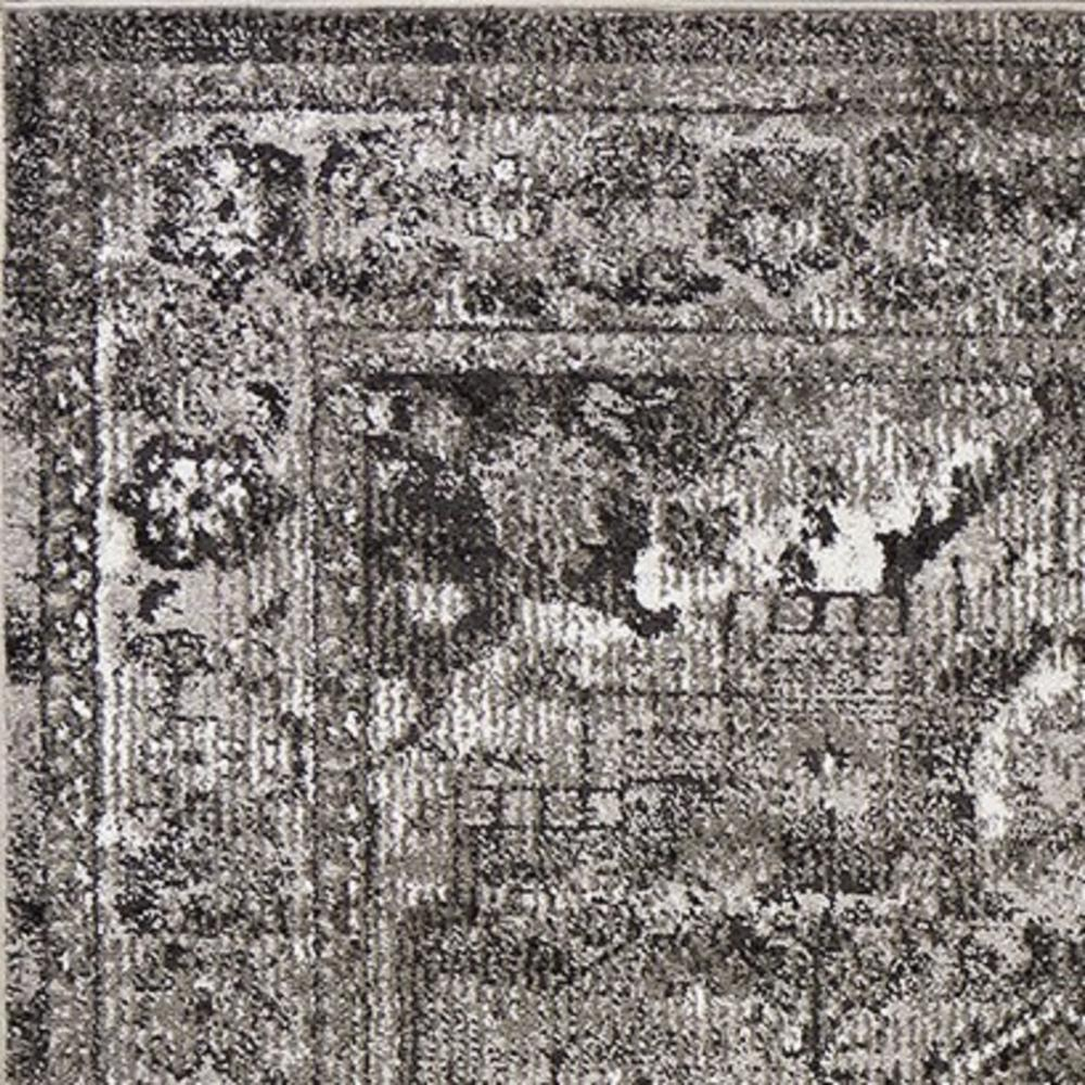 5' x 8' Grey Vintage Bordered Rug - 375372. Picture 2