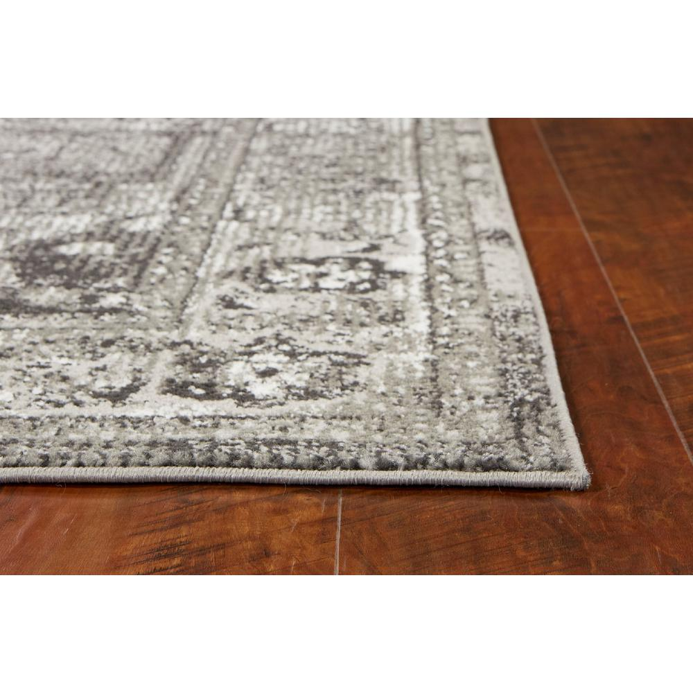5' x 8' Grey Vintage Bordered Rug - 375372. Picture 3