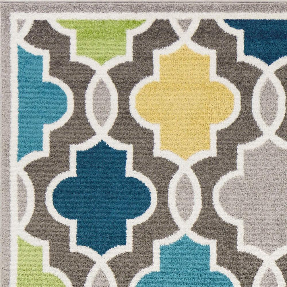 2' x 7' Modern Gray with Pops of Color Area Rug - 375379. Picture 2