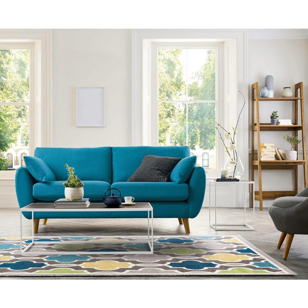 2' x 7' Modern Gray with Pops of Color Area Rug - 375379. Picture 4