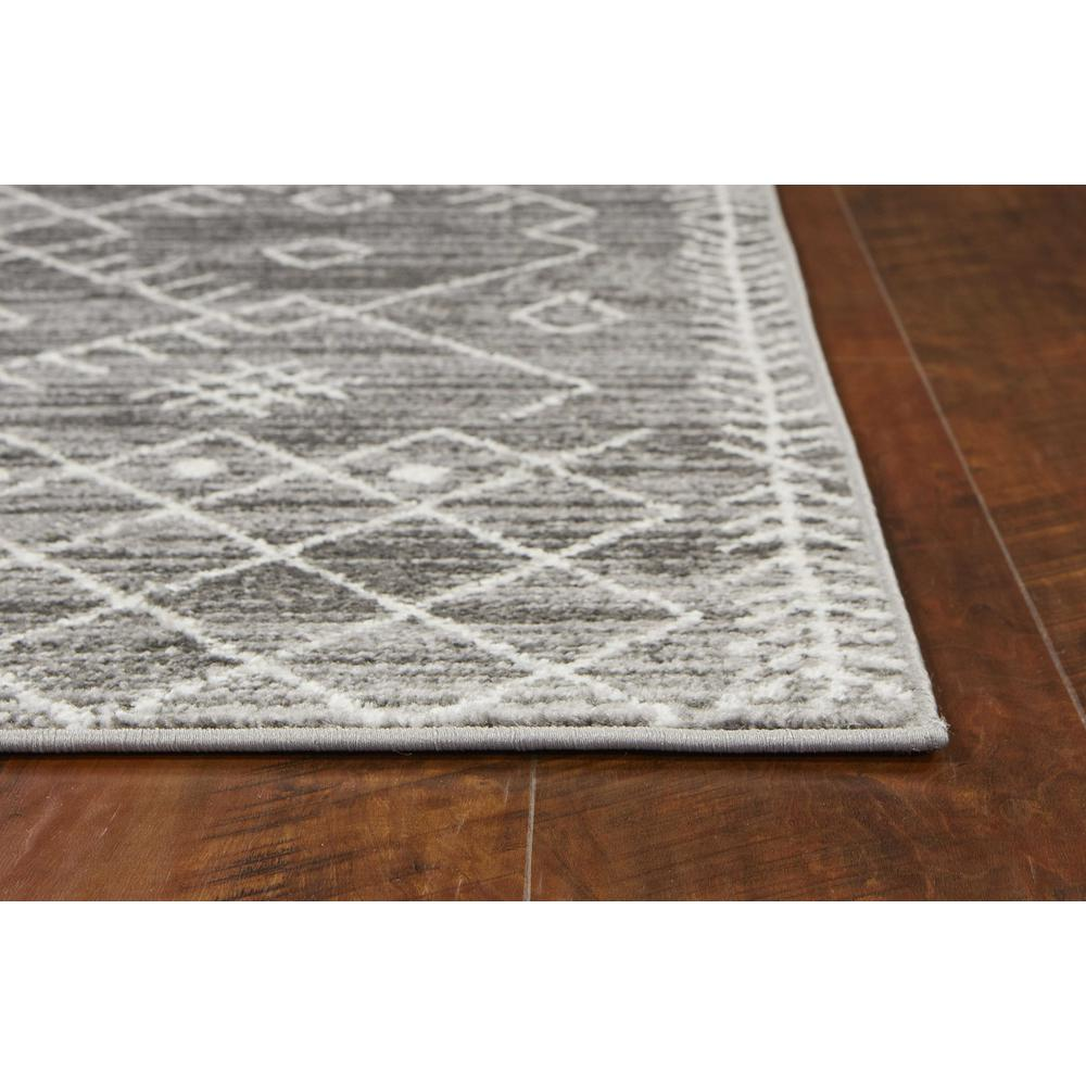 5' x 8' Gray And White Boho Geometric Area Rug - 375387. Picture 2