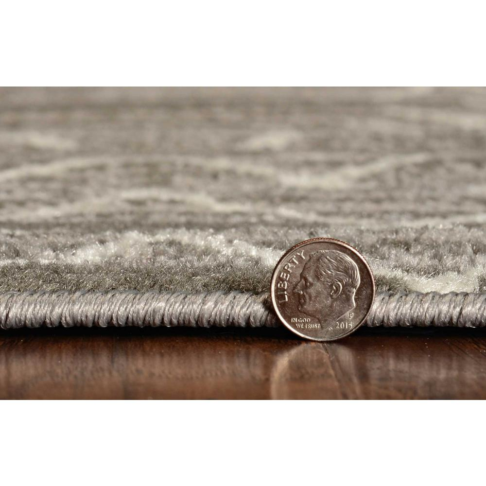5' x 8' Gray And White Boho Geometric Area Rug - 375387. Picture 3