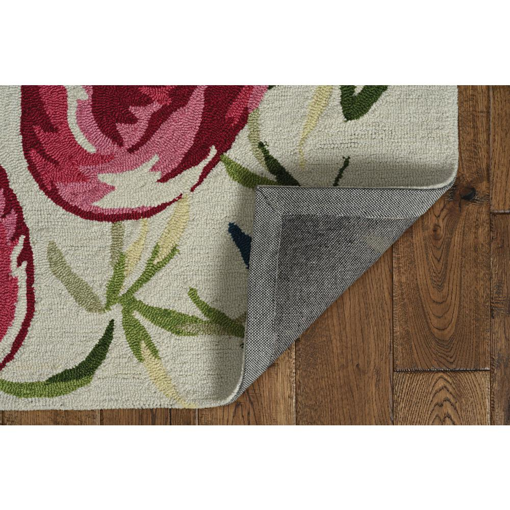 2'x4' Ivory Pink Hand Hooked Flamingo Indoor Accent Rug - 375438. Picture 5
