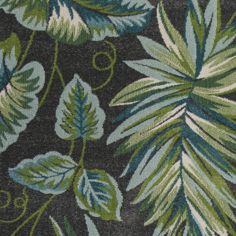 5'x8' Grey Teal Machine Woven Tropical Indoor Area Rug - 375512. Picture 1