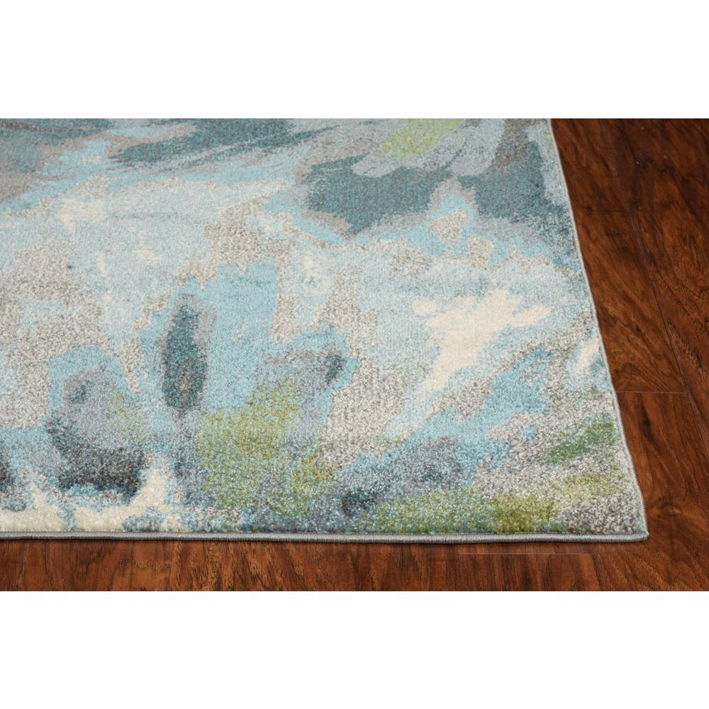 5' x 8' Teal Tropical Flower Indoor Area Rug - 375516. Picture 3