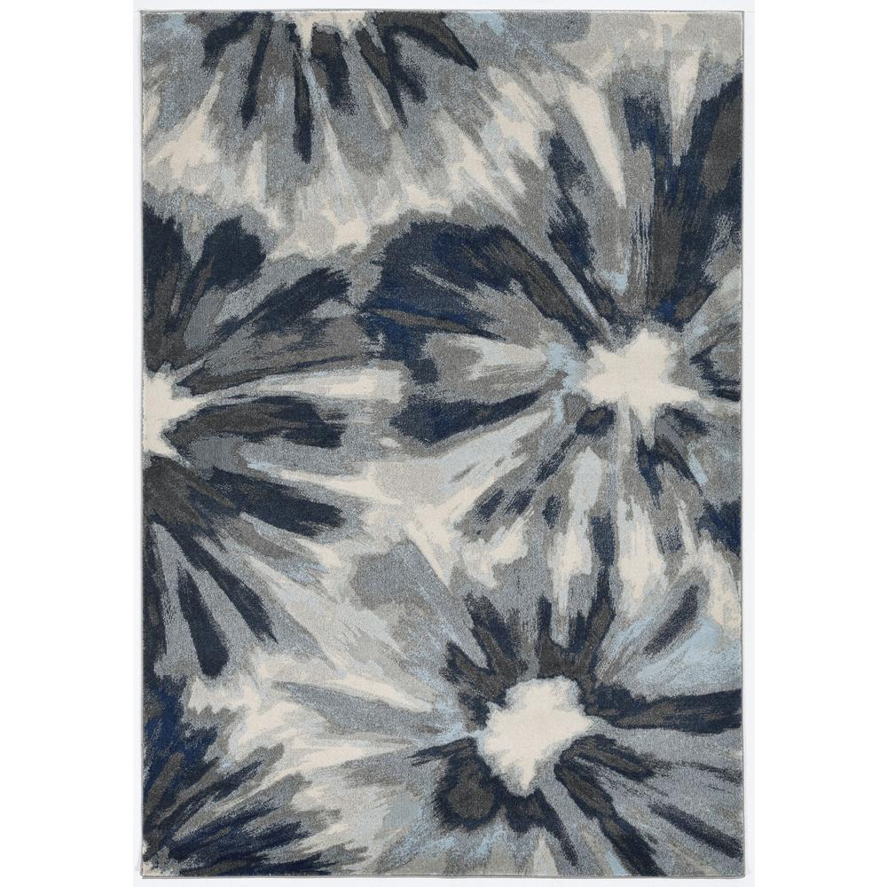 3'x5' Ivory Blue Machine Woven Oversized Floral Indoor Area Rug - 375519. Picture 2