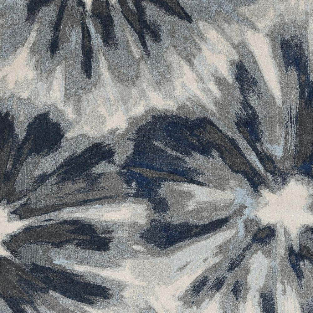 3'x5' Ivory Blue Machine Woven Oversized Floral Indoor Area Rug - 375519. Picture 3
