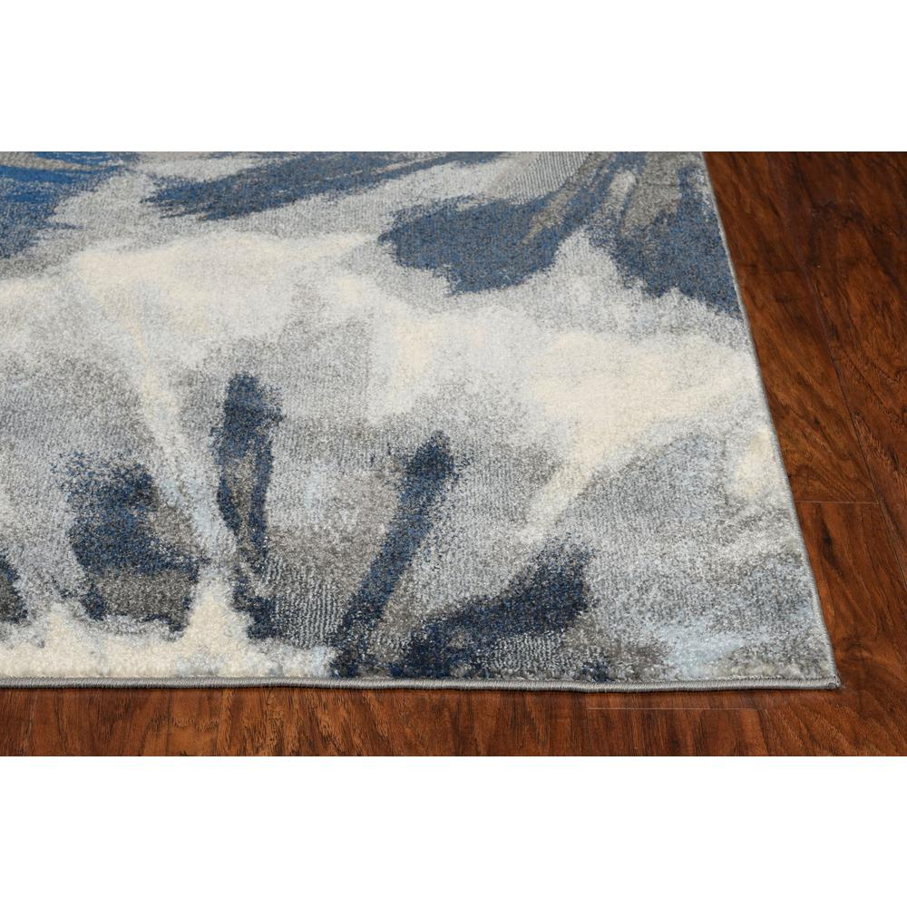 3'x5' Ivory Blue Machine Woven Oversized Floral Indoor Area Rug - 375519. Picture 4
