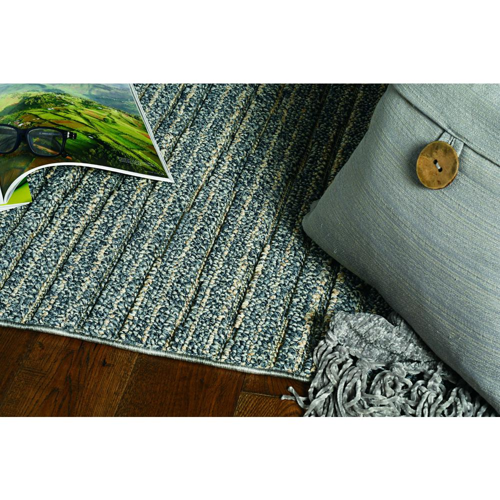 4'x6' Denim Blue Machine Woven UV Treated Abstract Lines Indoor Outdoor Area Rug - 375565. Picture 1