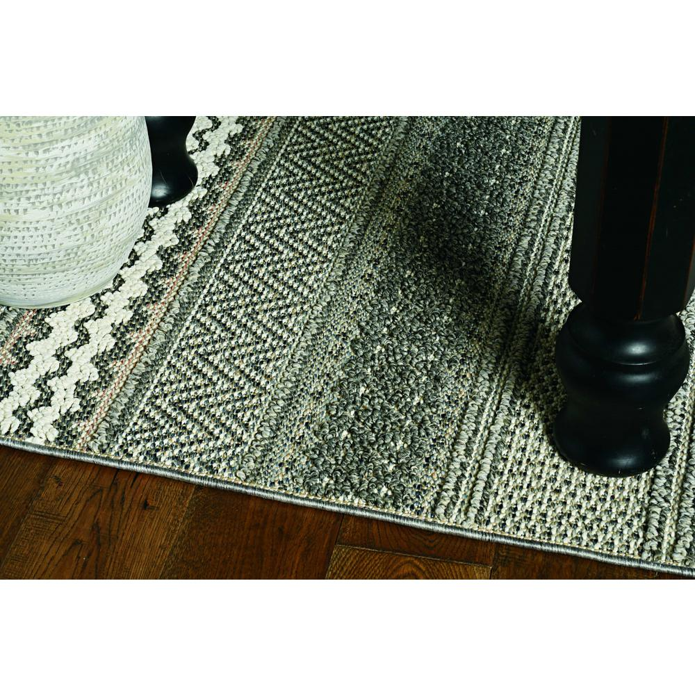 4' x 6' Taupe Geometric Lines Area Rug - 375571. Picture 1