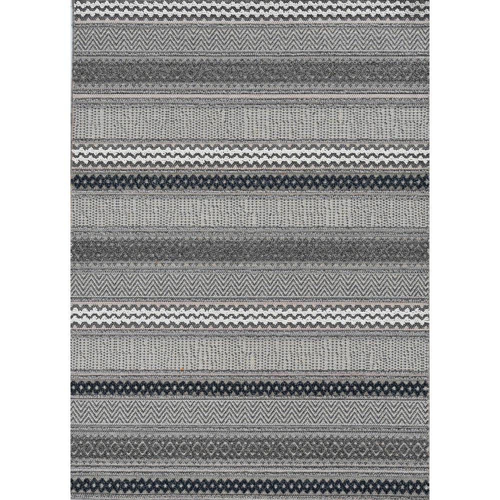 4' x 6' Taupe Geometric Lines Area Rug - 375571. Picture 4
