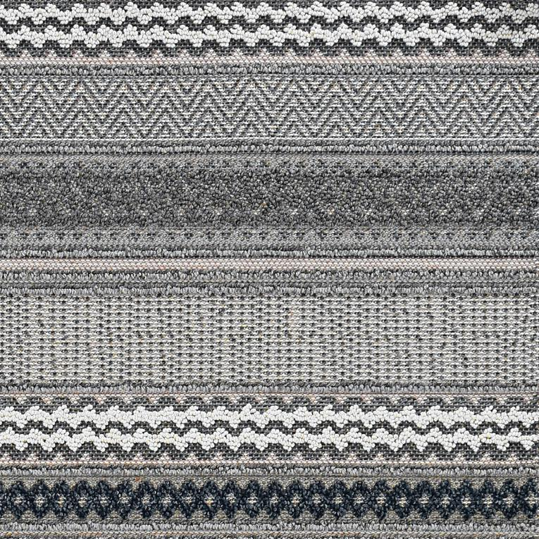 8' x 11' Taupe Geometric Patterns Indoor Area Rug - 375574. Picture 3