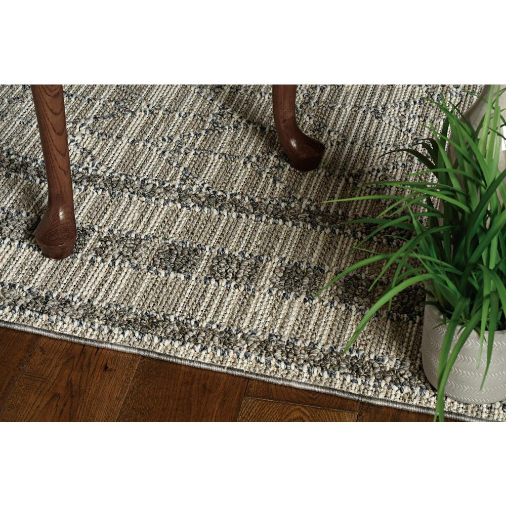 8'x10' Grey Machine Woven UV Treated Bordered Indoor Outdoor Area Rug - 375580. Picture 3