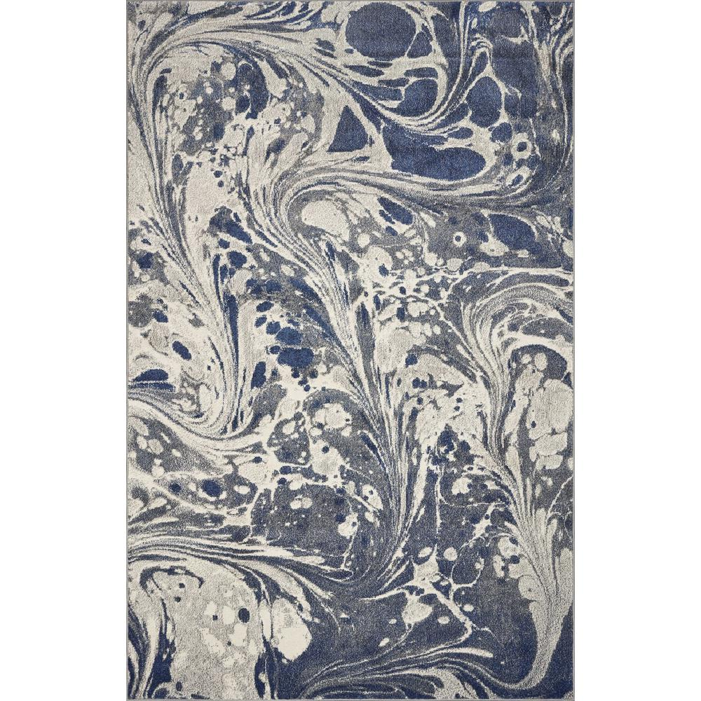 7' x 9' Grey Abstract Marble Design Indoor Area Rug - 375588. Picture 3