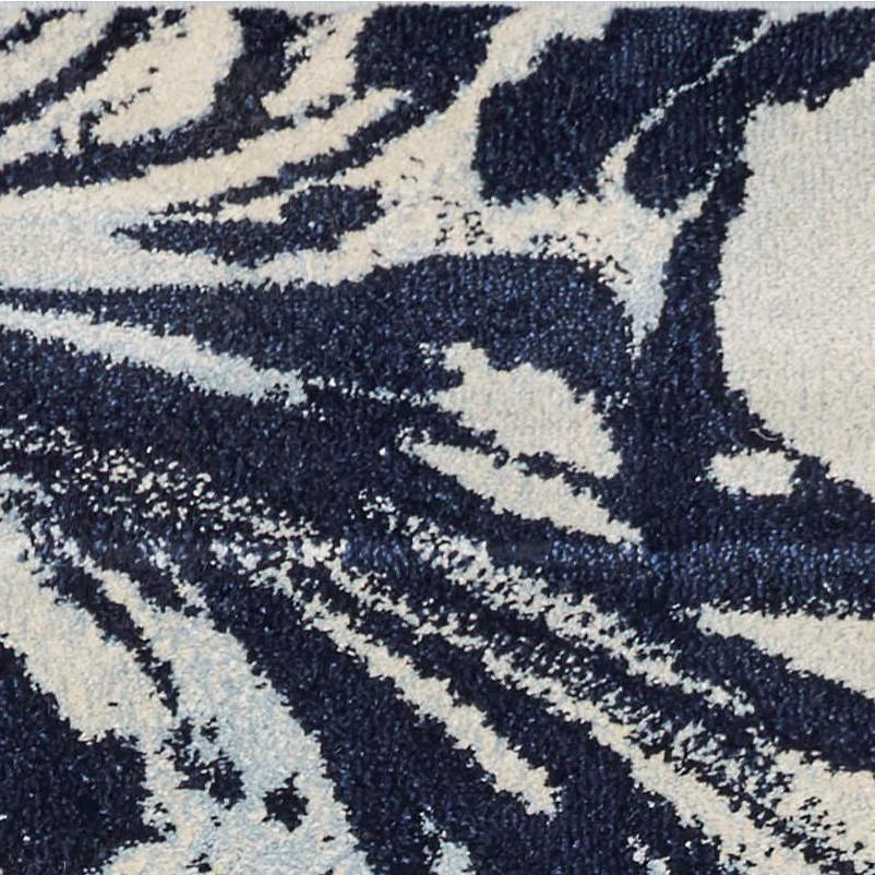 5' x 7' Blue Paint Splash Indoor Area Rug - 375591. Picture 3