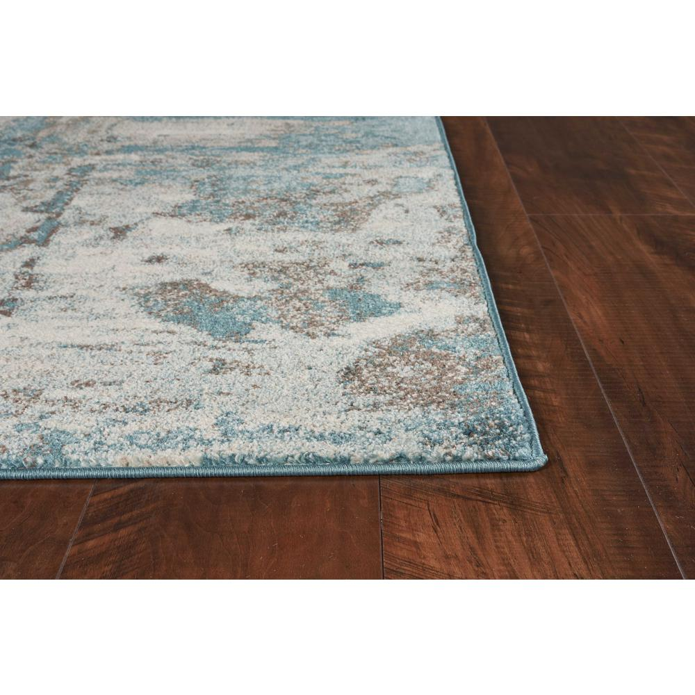 3'x5' Ivory Teal Machine Woven Abstract Indoor Area Rug - 375594. Picture 1