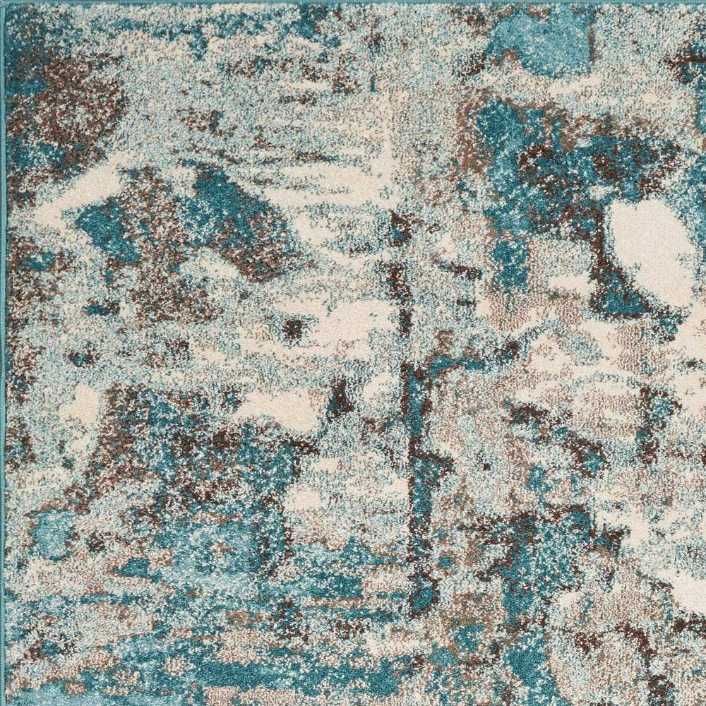5'x8' Ivory Teal Machine Woven Abstract Indoor Area Rug - 375595. Picture 2