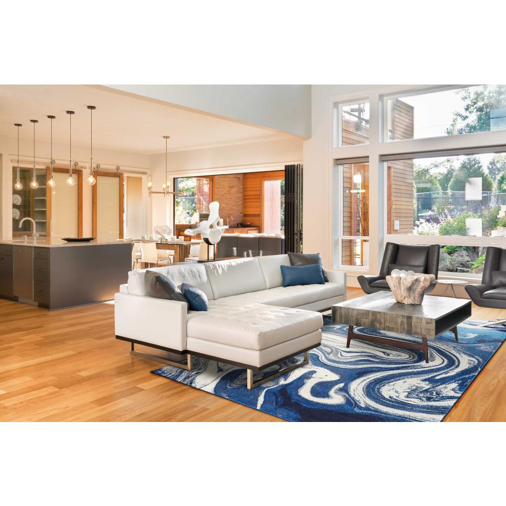 5' x 7' Blue Abstract Design Indoor Area Rug - 375607. Picture 1