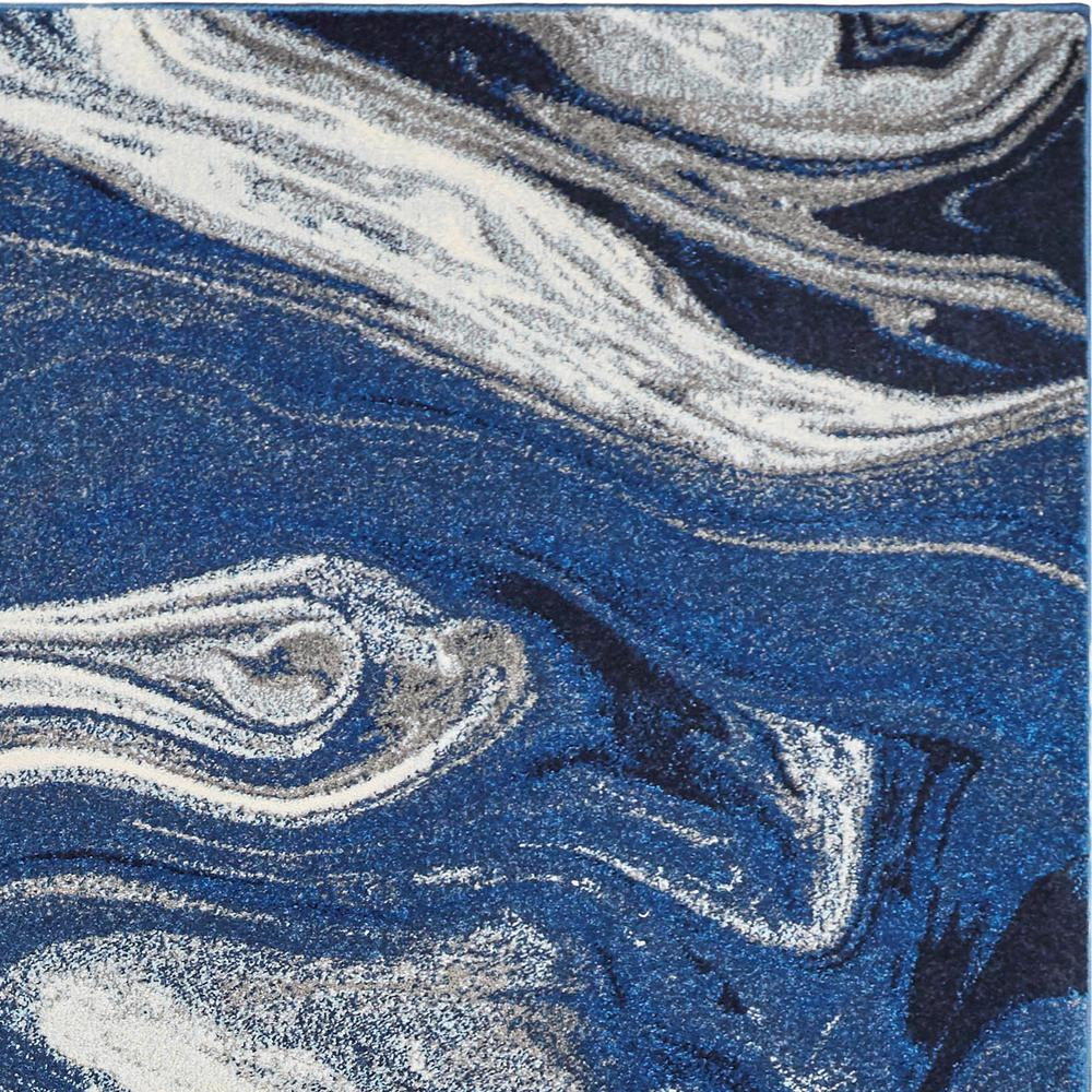 7'x10' Blue Beige Machine Woven Marble Indoor Area Rug - 375608. Picture 1