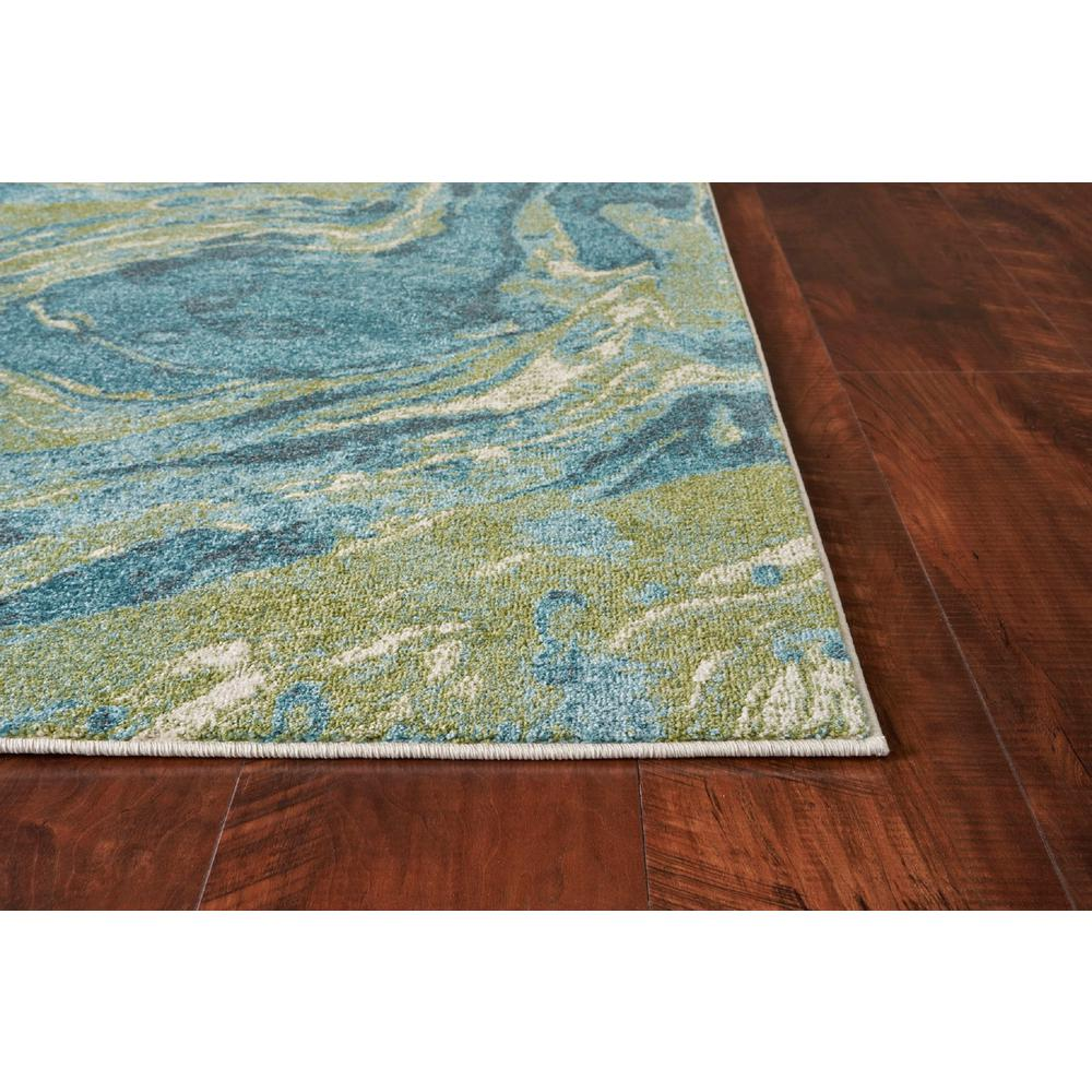 3' x 5' Teal Abstract Waves Area Rug - 375614. Picture 2