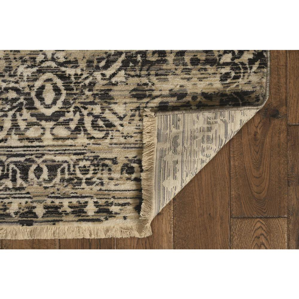 5' x 8' Sand or Charcoal Medallion Bordered Area Rug - 375620. Picture 2