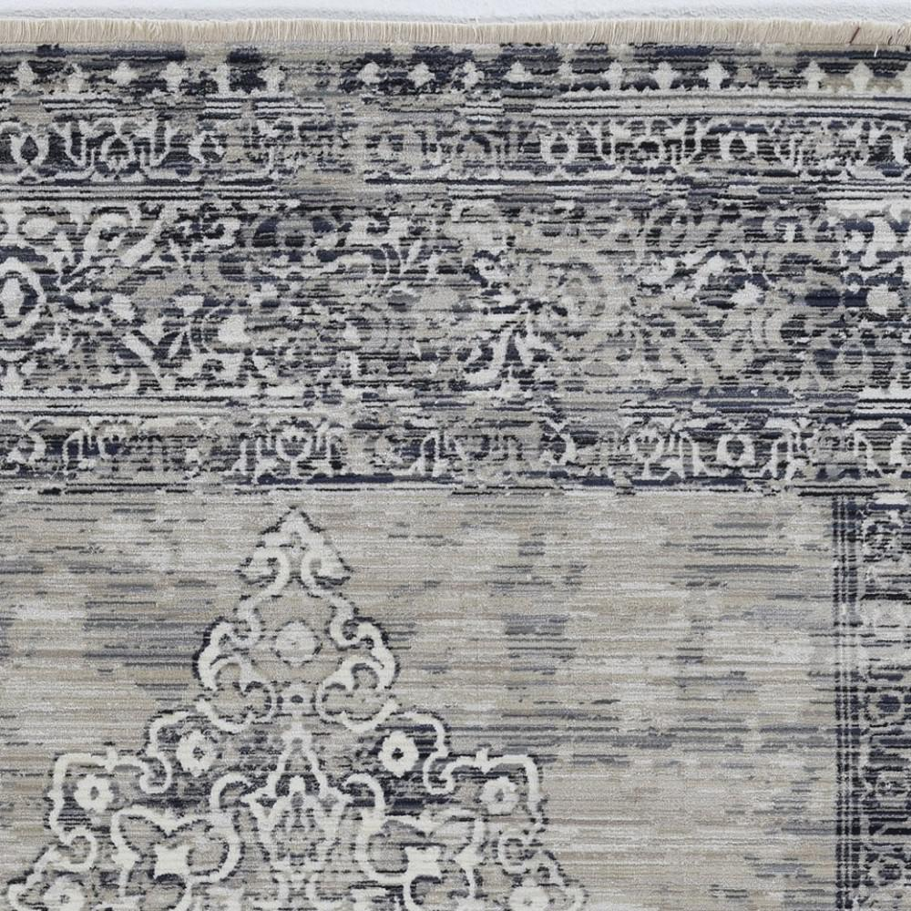"""96"""" X 120"""" X 0.5"""" Sand Charcoal Polypropylene Rug - 375622. Picture 1"""
