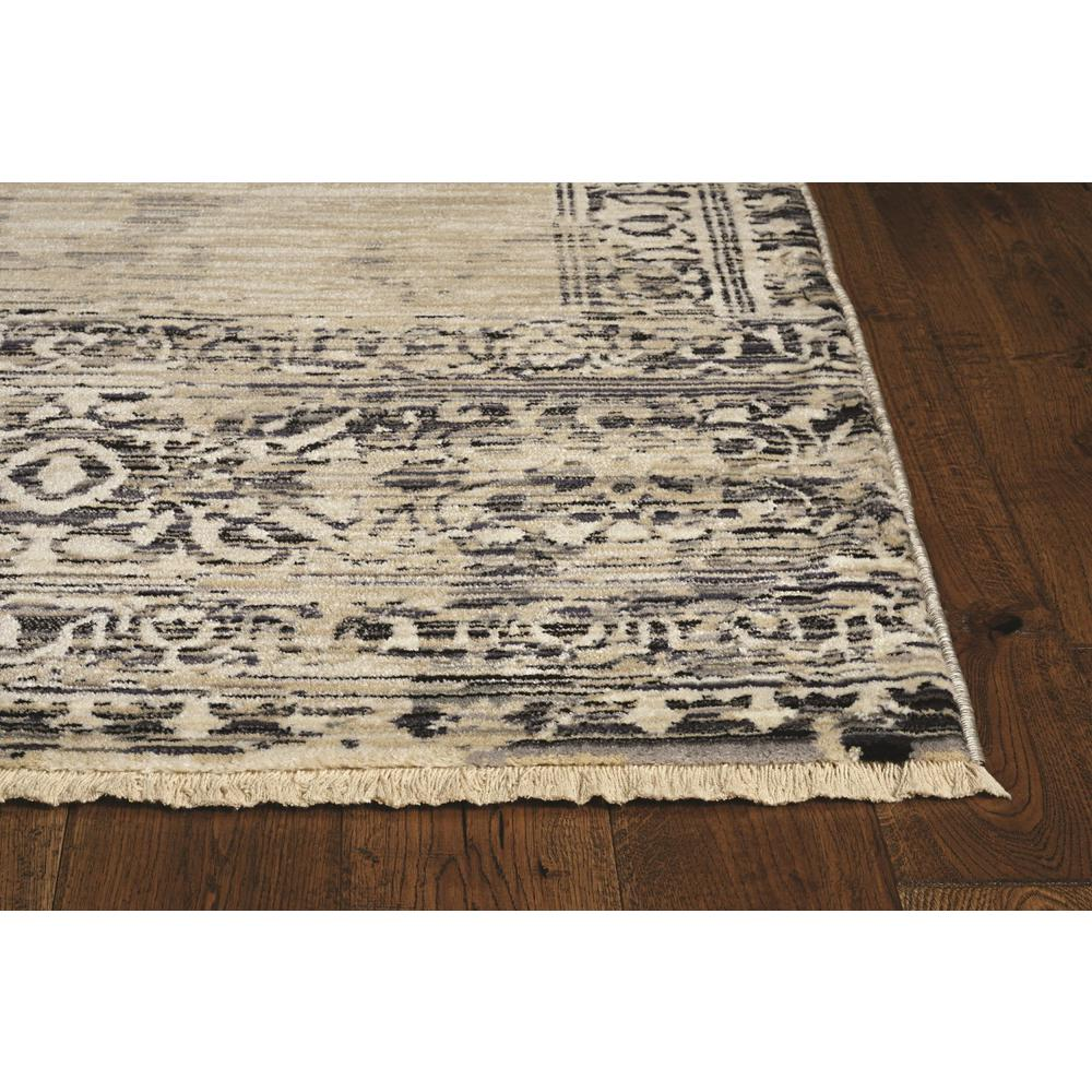 """96"""" X 120"""" X 0.5"""" Sand Charcoal Polypropylene Rug - 375622. Picture 4"""