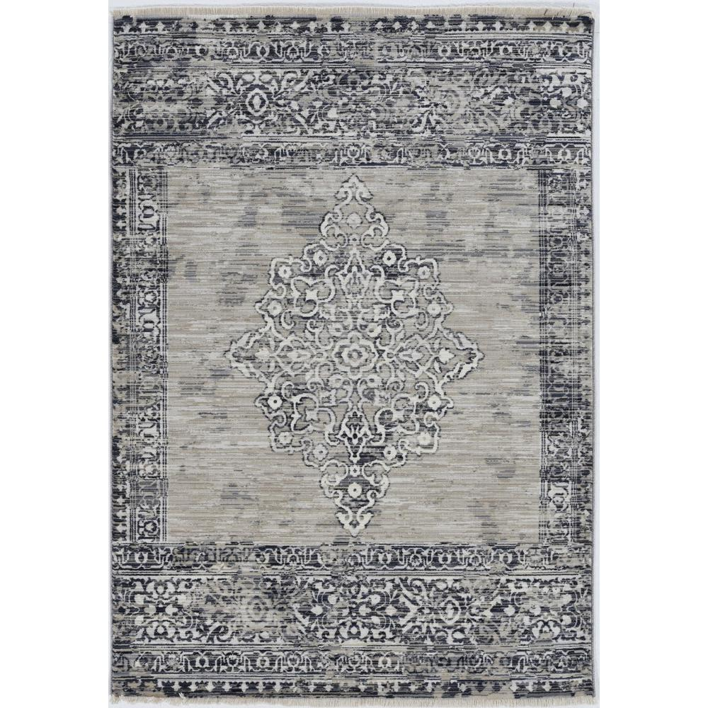 """96"""" X 120"""" X 0.5"""" Sand Charcoal Polypropylene Rug - 375622. Picture 5"""