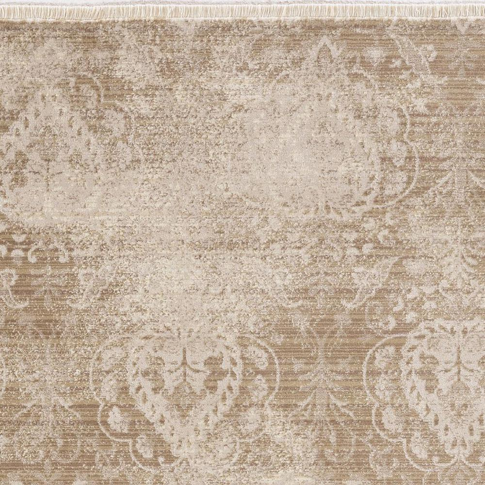 8'x10' Sand Ivory Machine Woven Distressed Traditional Indoor Area Rug - 375628. Picture 2