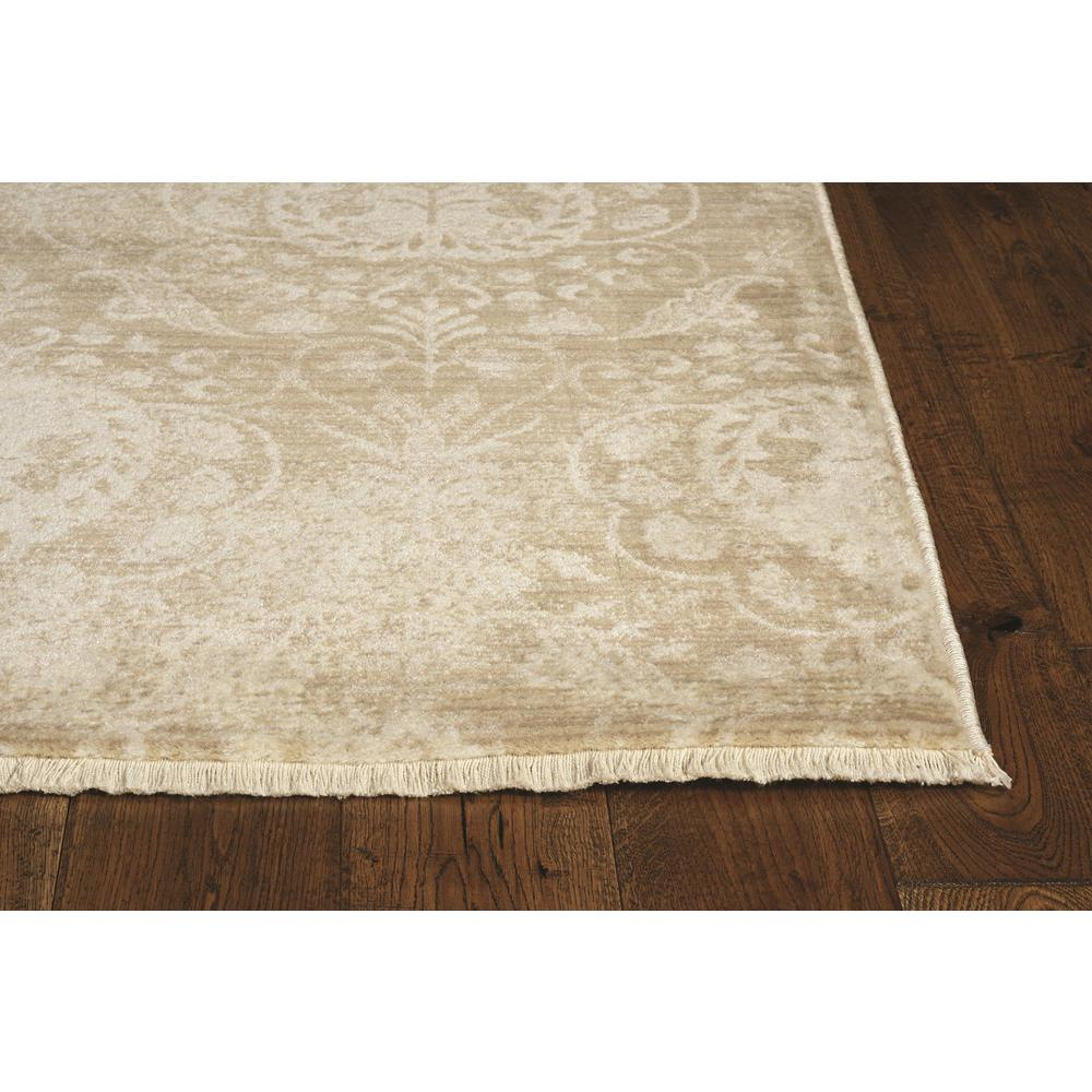8'x10' Sand Ivory Machine Woven Distressed Traditional Indoor Area Rug - 375628. Picture 3